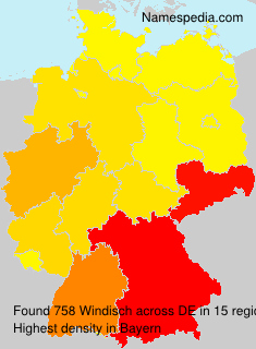Surname Windisch in Germany