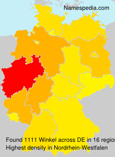 Surname Winkel in Germany