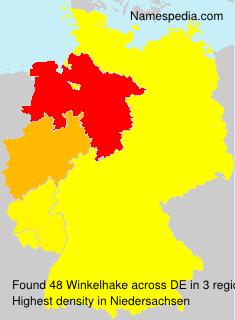 Surname Winkelhake in Germany