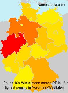 Surname Winkelmann in Germany
