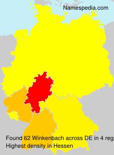 Surname Winkenbach in Germany