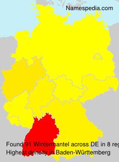 Surname Wintermantel in Germany