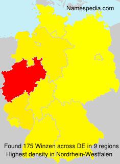 Surname Winzen in Germany