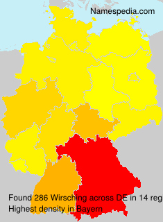 Surname Wirsching in Germany