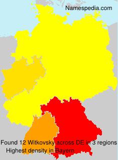 Familiennamen Witkovsky - Germany