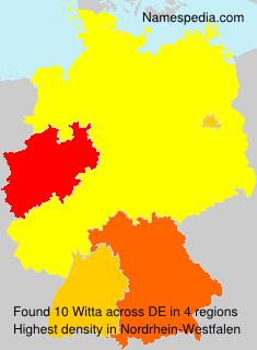 Familiennamen Witta - Germany
