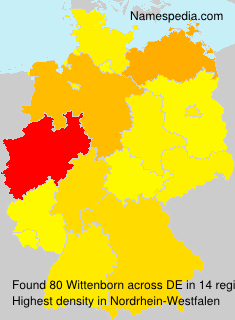 Surname Wittenborn in Germany