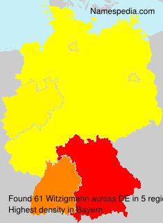 Familiennamen Witzigmann - Germany