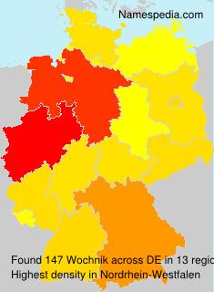 Familiennamen Wochnik - Germany