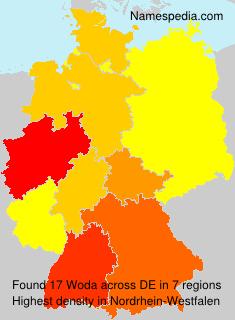 Surname Woda in Germany
