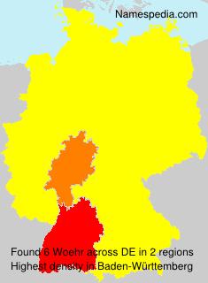 Familiennamen Woehr - Germany