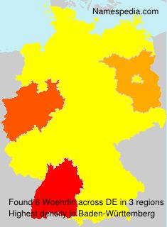 Surname Woehrlin in Germany