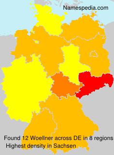 Surname Woellner in Germany