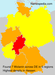 Surname Wolanin in Germany