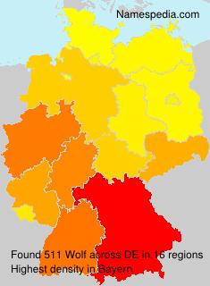 Familiennamen Wolf - Germany