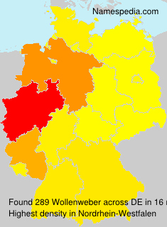 Surname Wollenweber in Germany