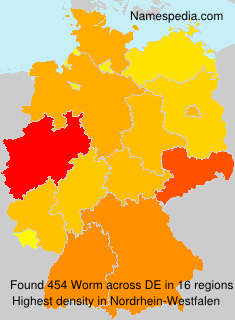 Surname Worm in Germany