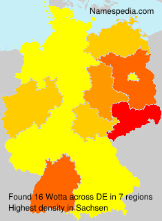 Surname Wotta in Germany