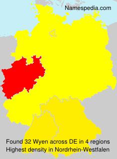 Familiennamen Wyen - Germany