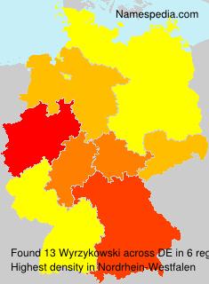 Familiennamen Wyrzykowski - Germany