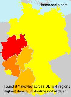 Familiennamen Yakovlev - Germany