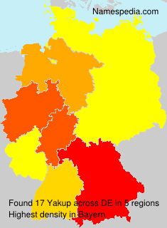 Familiennamen Yakup - Germany