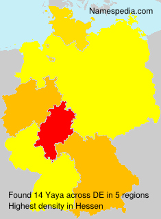 Familiennamen Yaya - Germany