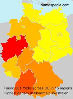 Surname Yildiz in Germany