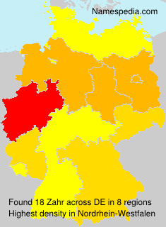 Surname Zahr in Germany