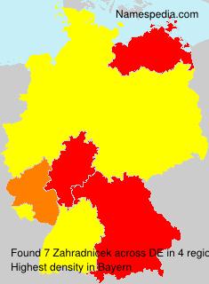 Surname Zahradnicek in Germany