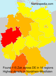 Familiennamen Zak - Germany