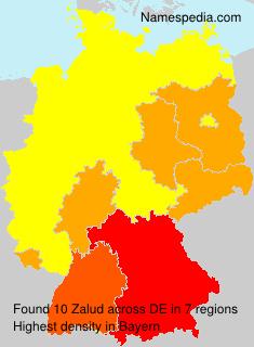 Surname Zalud in Germany