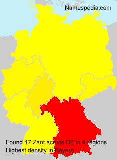 Surname Zant in Germany