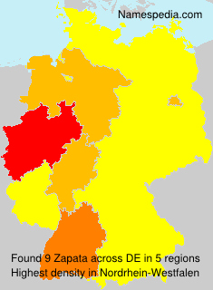 Familiennamen Zapata - Germany