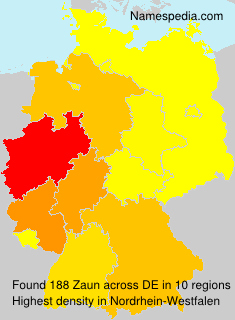 Surname Zaun in Germany