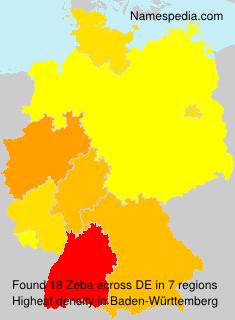Surname Zeba in Germany