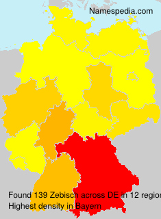 Surname Zebisch in Germany