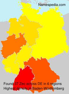 Surname Zec in Germany