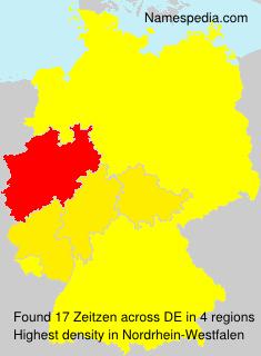 Surname Zeitzen in Germany