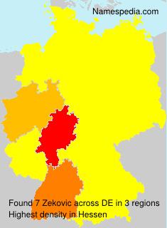 Familiennamen Zekovic - Germany