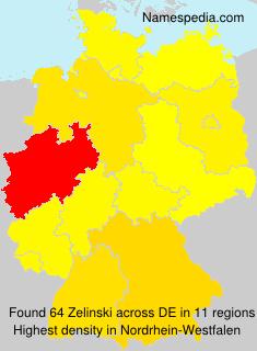 Familiennamen Zelinski - Germany