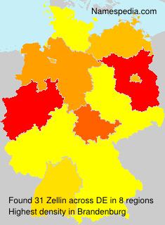 Surname Zellin in Germany