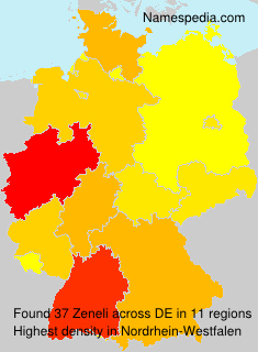 Surname Zeneli in Germany