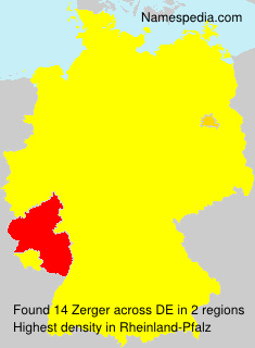 Surname Zerger in Germany