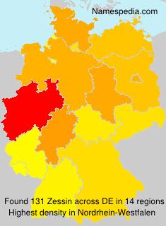 Surname Zessin in Germany