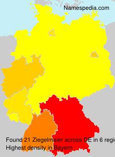 Surname Ziegelmaier in Germany