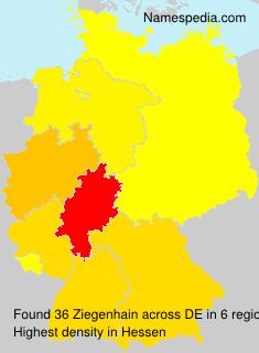 Surname Ziegenhain in Germany