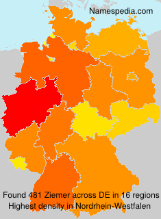 Surname Ziemer in Germany