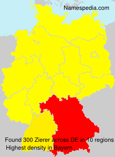 Familiennamen Zierer - Germany