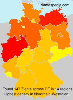 Surname Zierke in Germany